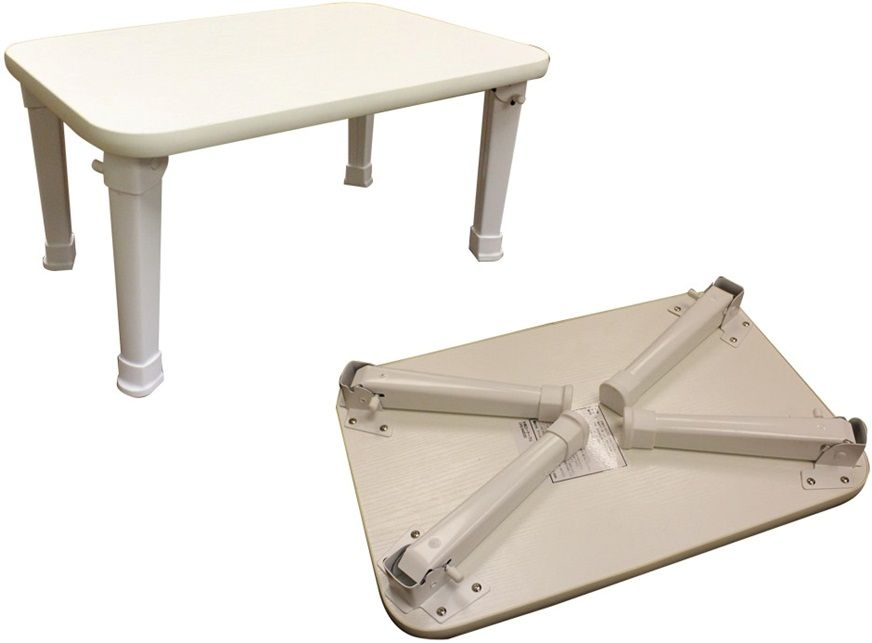 Coffee Table White Small Occasional Table Fold Away Legs Side Table Portable Ebay