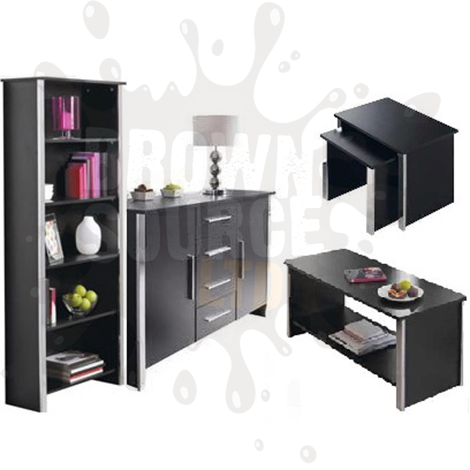 Sideboard Bookcase Coffee Table TV Stand Nest Of Tables Entertainment