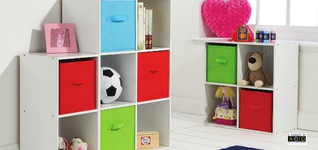 kids bedroom storage cube system white shelving colour canvas drawer 4 cube ebay. Black Bedroom Furniture Sets. Home Design Ideas