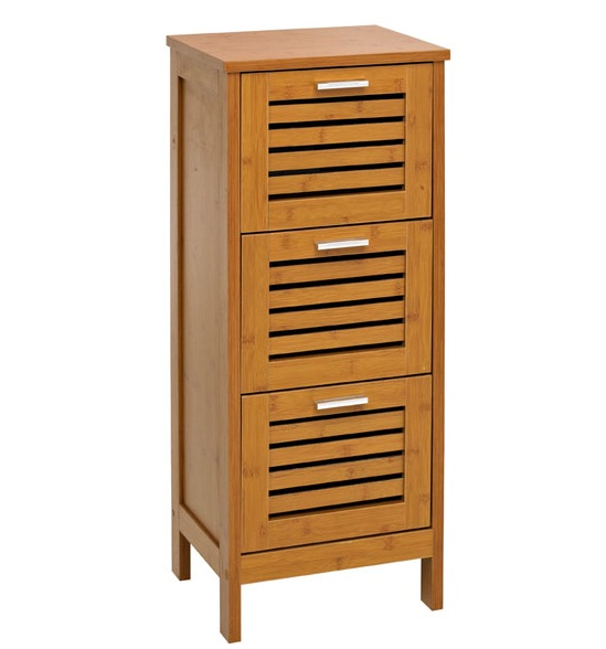 bathroom cabinet 3 drawer floor standing storage cupboard
