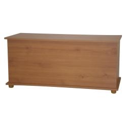 Ottoman Storage Chest Toy Blanket Storage or Bedding Box Pine Beech White New