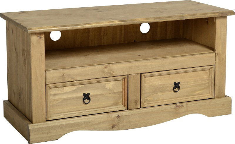 Corona tv stand living room furniture solid wood mexican