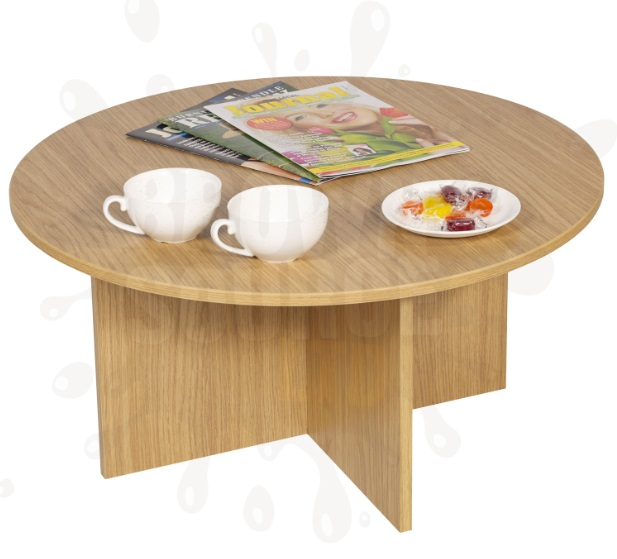 Oak Coffee Table Round Occasional Living Room Furniture