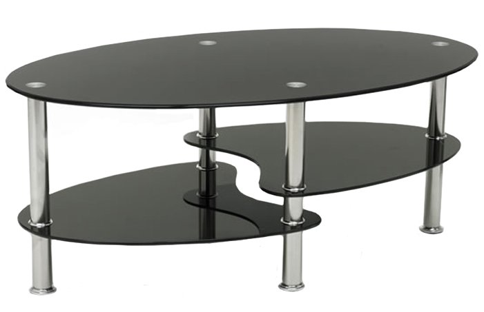 black glass coffee table oval chrome frame occasional or reception table ebay