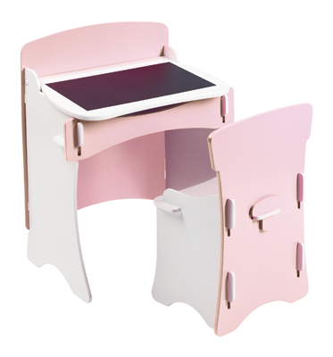 girls desk chair pink chalk board kids playroom bedroom table chair