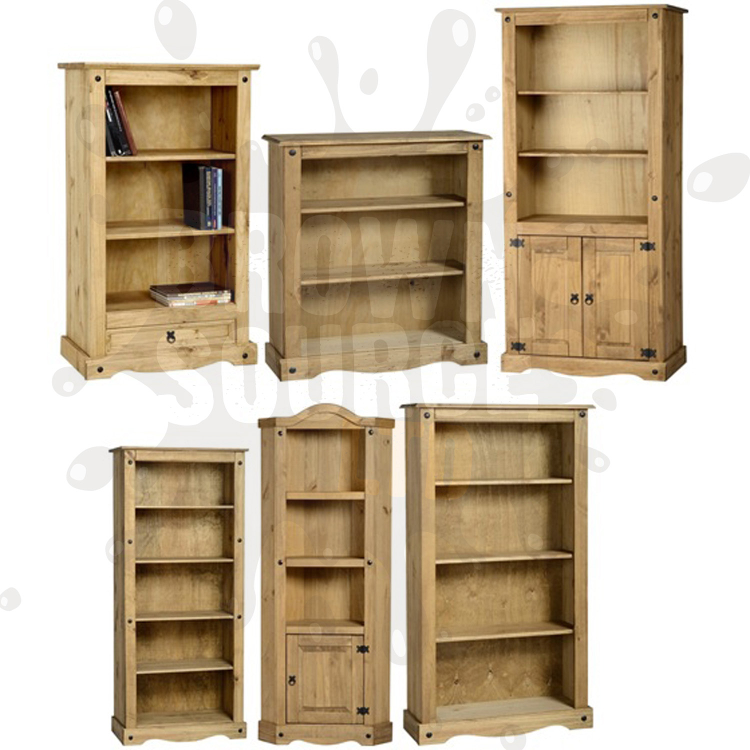 corona pine bookcase living room furniture book shelves