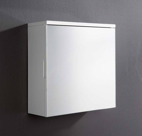 details about white bathroom wall mirror cabinet 1 door gloss cupboard