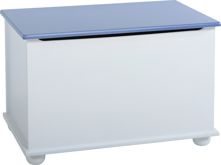 Details about Kids Bedroom Furniture Blue White Wardrobe Bed Chest of