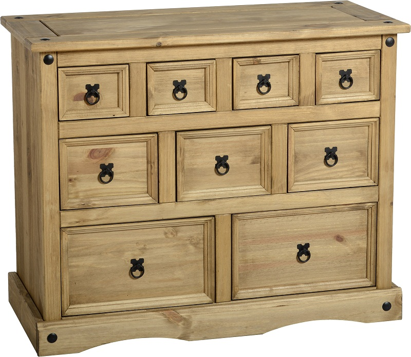 of drawers pine corona bedroom furniture solid wood bedside tables