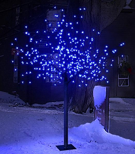 Xmas Tree Cherry Blossom Christmas Tree Outdoor Decoration 200 Led Blue Lights Ebay
