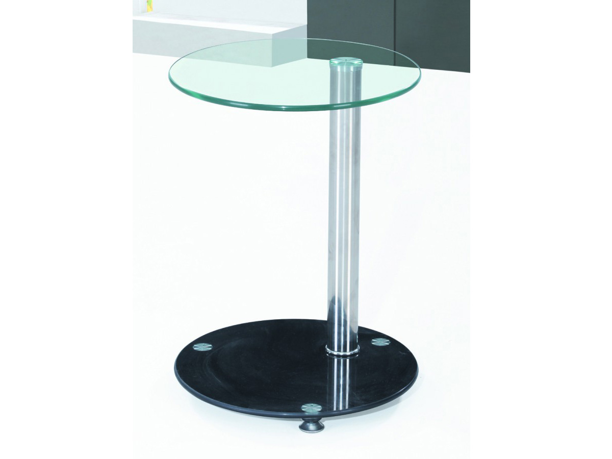 Black Glass Side Table: Lamp Table Glass Black & Clear Side End Occasional Or