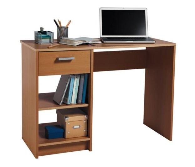 Beech Desk Home Office Computer Work Station 1 Drawer 2