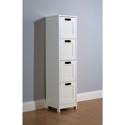 Excellent WhiteWoodenBathroomCabinetShelfCupboardBedroomStorageUnitFree