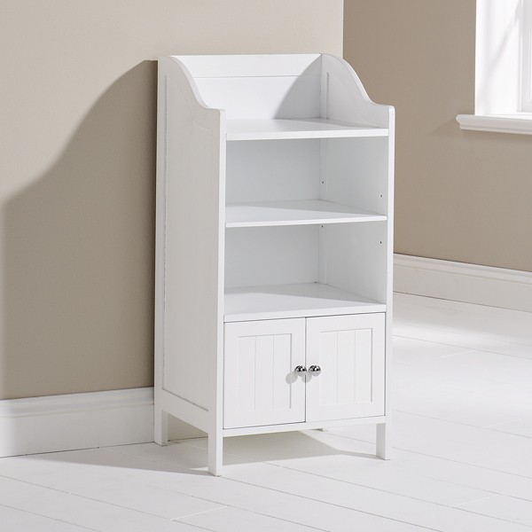 Beautiful  And Nani Stow Tallboy Bathroom Cabinet Hallway Storage Unit In White