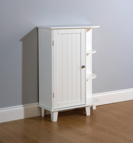 Bathroom corner cabinet white storage unit 1 door cupboard - White bathroom corner shelf unit ...