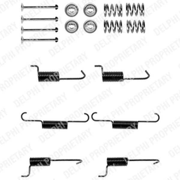 parking handbrake brake shoes fitting kit rear hyundai. Black Bedroom Furniture Sets. Home Design Ideas