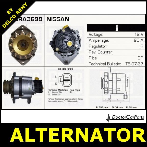Alternator Nissan Serena  Vanette Cargo Dra3698