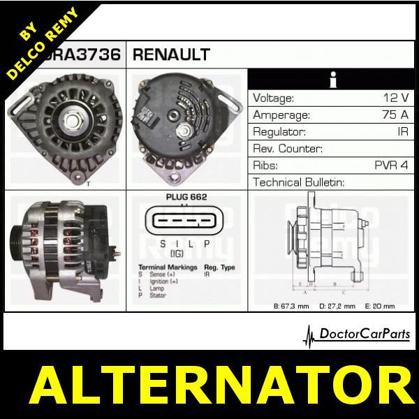 Alternator Renault Clio  Twingo  Kangoo Dra3736