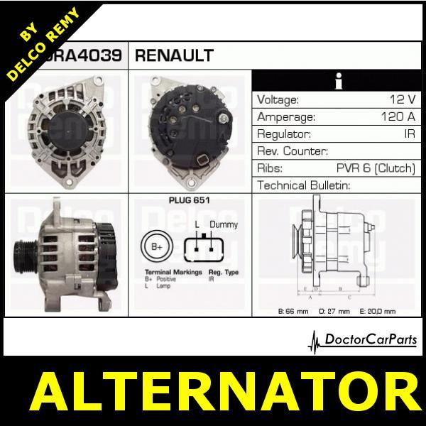 Renault Clio Alternator Wiring Diagram : Alternator renault megane laguna espace scénic volvo s
