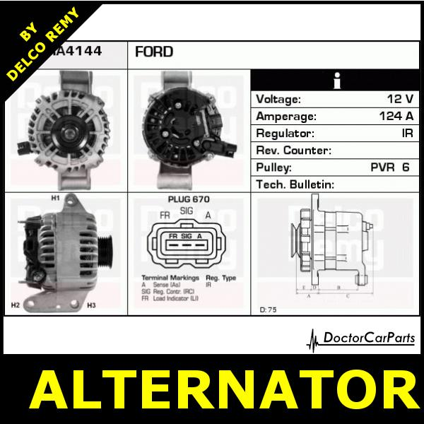 alternator ford mondeo jaguar x type dra4144 ebay. Black Bedroom Furniture Sets. Home Design Ideas