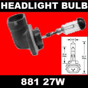 HEADLIGHT BULB 881 H27W2 - HYUNDAI Tuscon