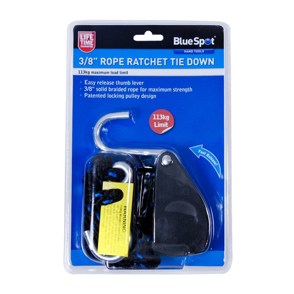 Rope ratchet tie down quot with locking pulley design ebay