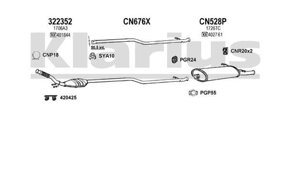 322352 Catalytic Converter Cat    Citroen       Xsara    Picasso 1706A3   eBay