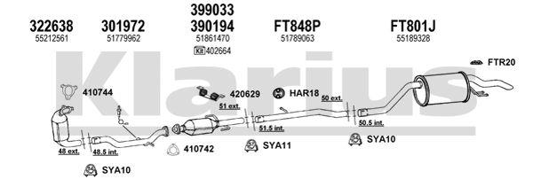 410742 Exhaust Gasket Fiat Punto Grande Punto 1557751