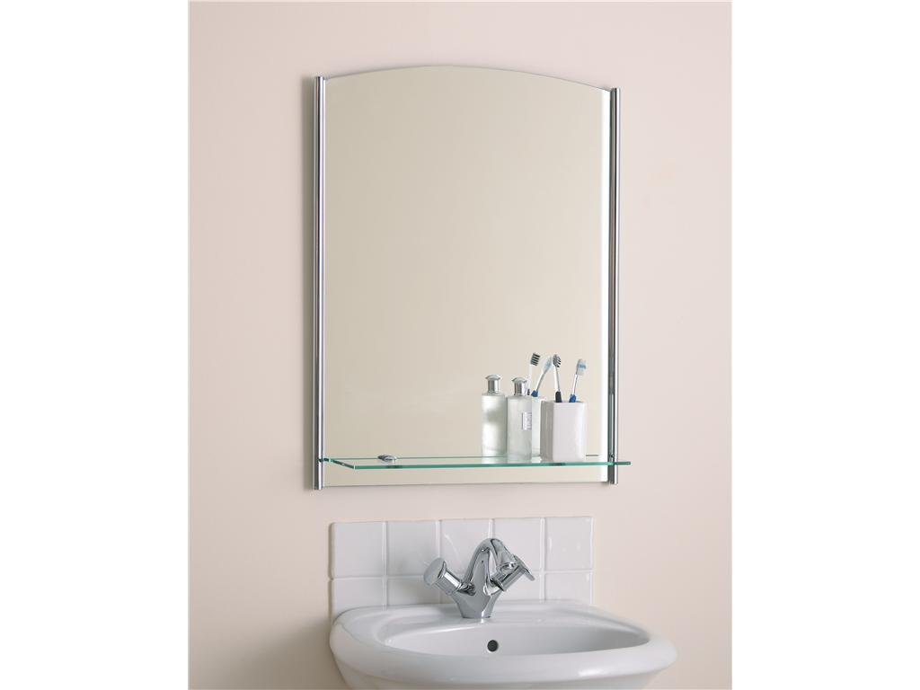 Beautiful Bathroom Mirror With A Glass Shelf Endon El