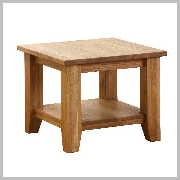 Heavy Oak Square Coffee Table 61cm x 61cm x 50cm