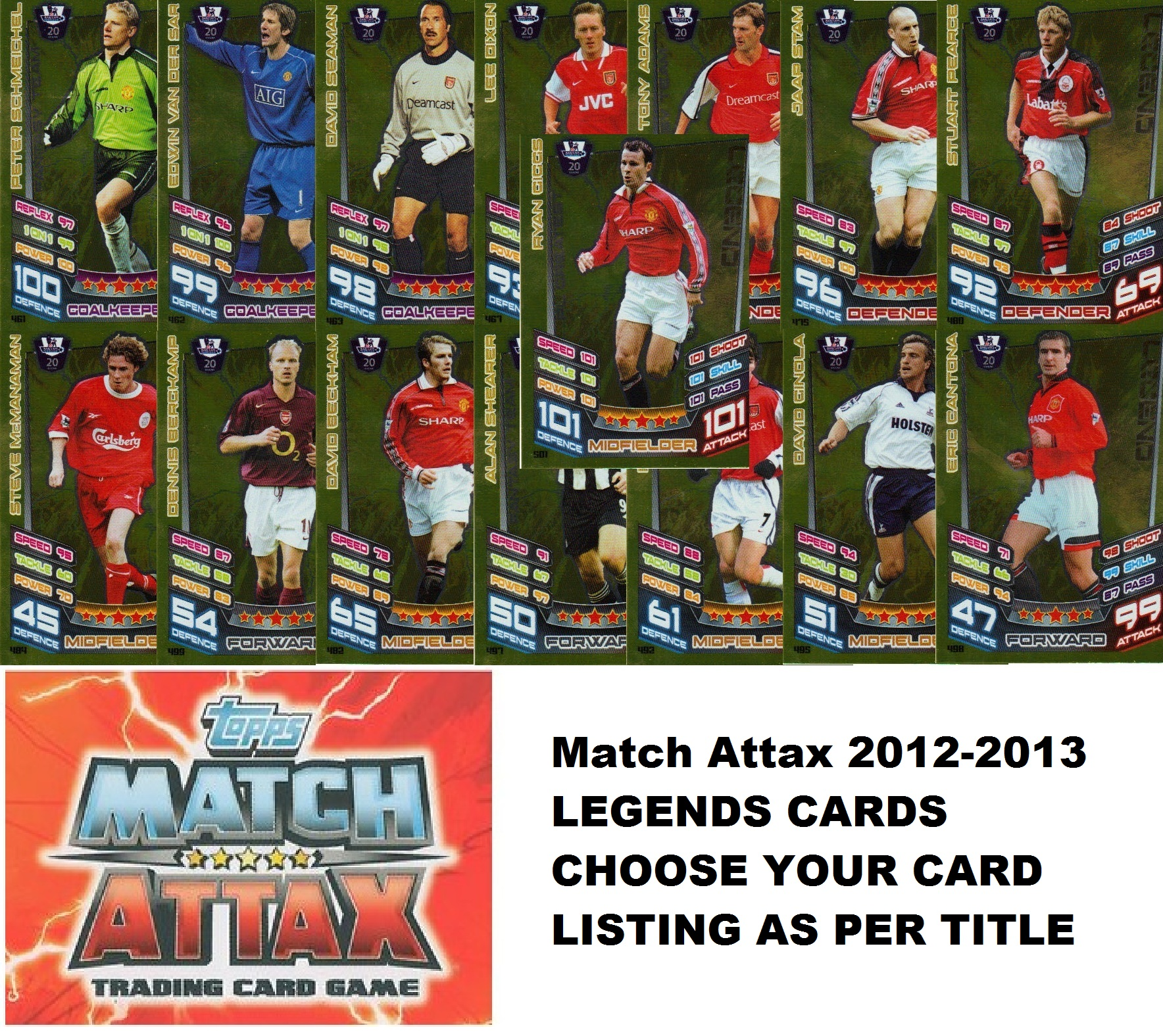 Match Attax 2012/2013 CHOOSE Legend Card 481 - 501 *FREE UK P&P* MOTM