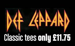 Buy Def Leppard T-shirts and Merchandise