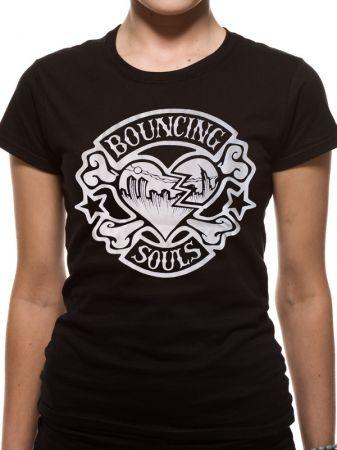 Bouncing Souls (Rocker Heart) Fitted T-shirt