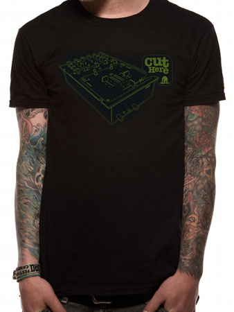 Dephect (Cut Here) Black T-shirt