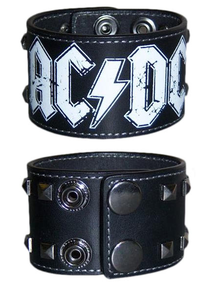 AC/DC (Logo) Leather Wristband