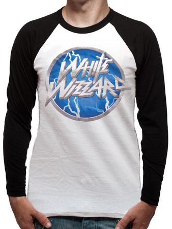 White Wizzard (Logo) American Apparel Raglan