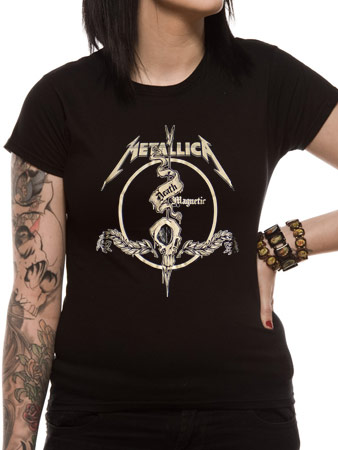 Metallica (Skull Arrow Black) Fitted T-shirt