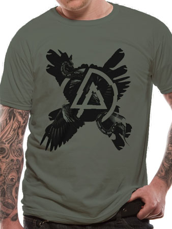 linkin park cross feathers t shirt tm shop. Black Bedroom Furniture Sets. Home Design Ideas