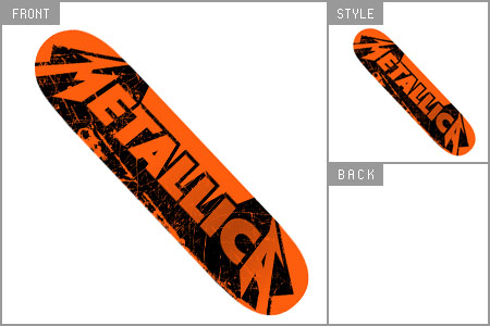 Metallica (Skratch) Skate Deck