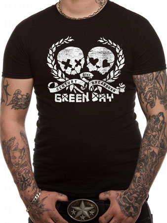 Green Day (Distress Skulz) T-shirt