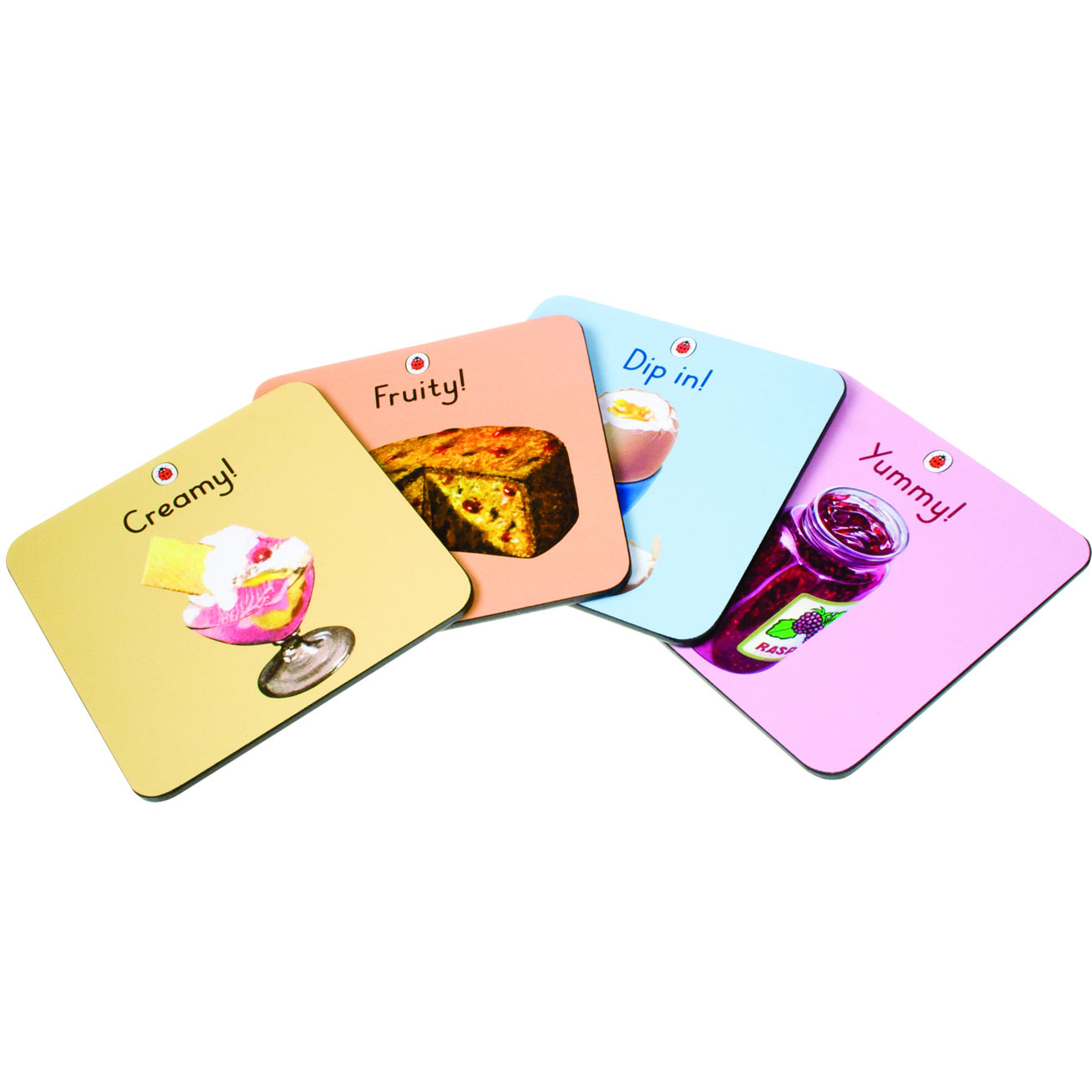 Ladybird (Yummy) 4pk Coaster Set