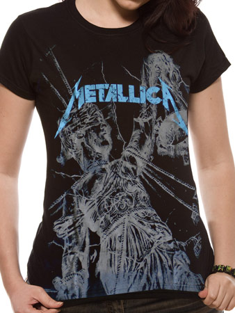 Metallica (AJFA All Over Black) Fitted T-Shirt