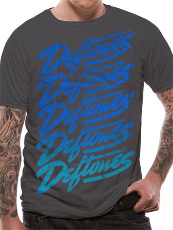 Deftones (Script Blue Fade) T-shirt