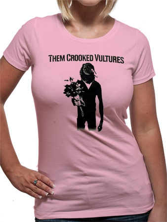Them Crooked Vultures (Pink) Fitted T-Shirt