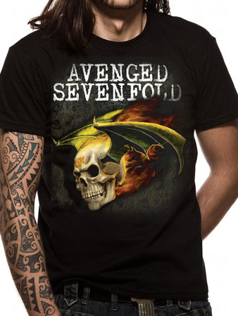 Avenged Sevenfold (Flaming Bat Skull) T-shirt