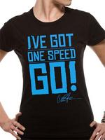 Charlie Sheen (One Speed Go!) Girls T-shirt