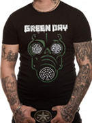 Green Day (Gas Mask) T-shirt Thumbnail 2