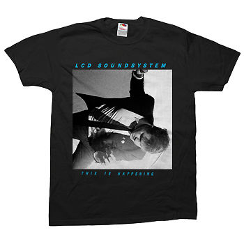 """LCD Soundsystem """"this is happening"""" Black T-Shirt"""