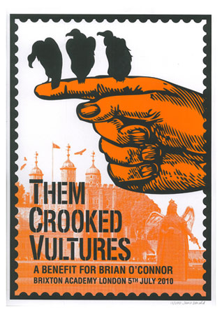 Them Crooked Vultures (Brian O'Connor Benefit) Poster Preview