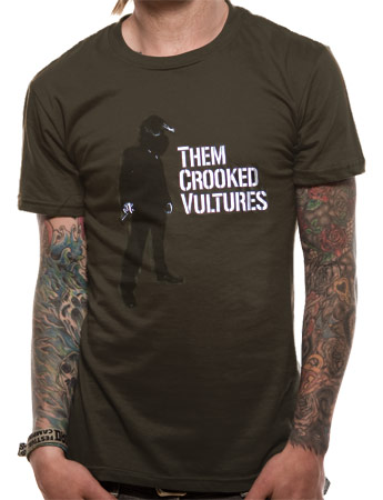 Them Crooked Vultures (Smoking) Green T-Shirt